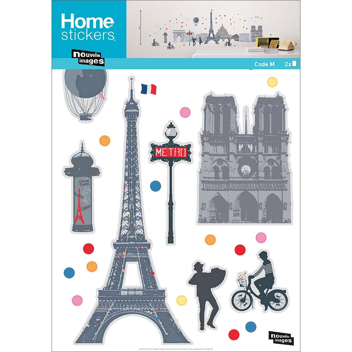 Ref-170-002025-03-5-DRAEGER-Lot-de-5-Stickers-mural-Paris-Multicolore miniature 2