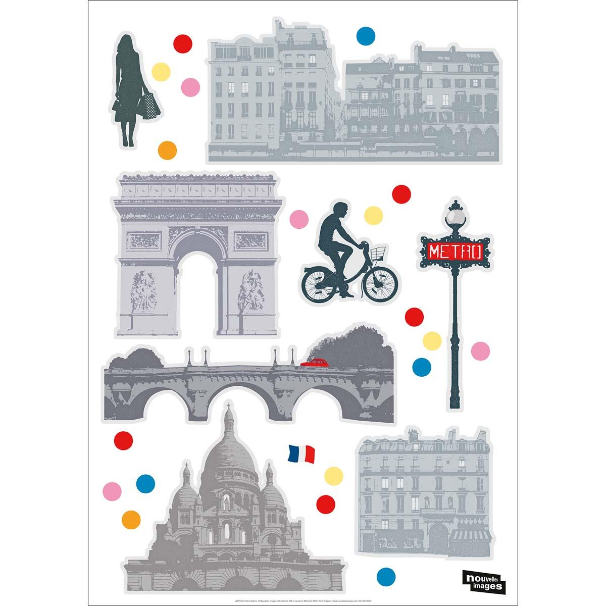 Ref-170-002025-03-5-DRAEGER-Lot-de-5-Stickers-mural-Paris-Multicolore miniature 4