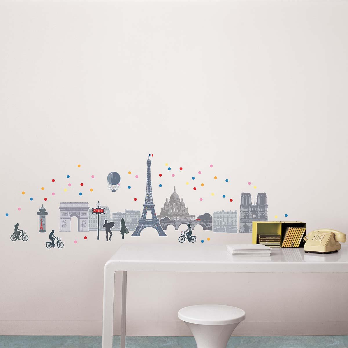 Ref-170-002025-03-5-DRAEGER-Lot-de-5-Stickers-mural-Paris-Multicolore